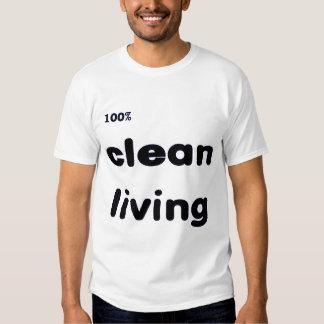 El 100 por ciento limpia la camiseta viva polera