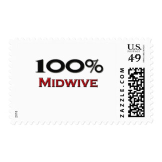 El 100 por ciento Midwive Sello