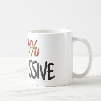 El 100 por ciento opresivo taza básica blanca