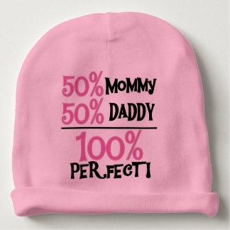 El 100 por ciento perfecciona rosa gorrito para bebe