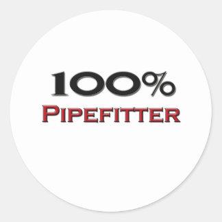 El 100 por ciento Pipefitter Pegatina Redonda