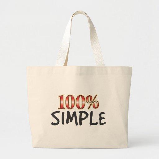 El 100 por ciento simple bolsas