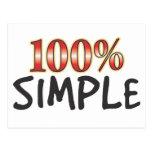 El 100 por ciento simple postal