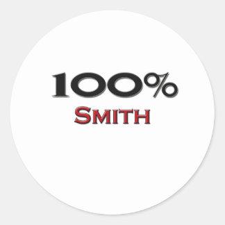 El 100 por ciento Smith Etiquetas Redondas
