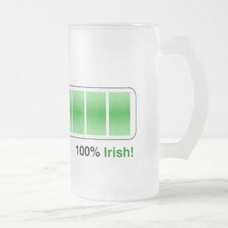 el 100 por ciento taza cristal mate