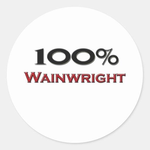 El 100 por ciento Wainwright Pegatinas