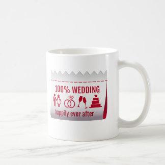 el 100% que se casa, feliz nunca después de, texto taza clásica