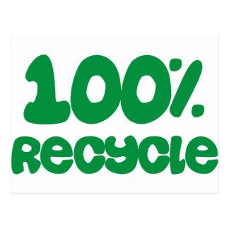 ¡El 100% recicla productos y diseños! Tarjeta Postal