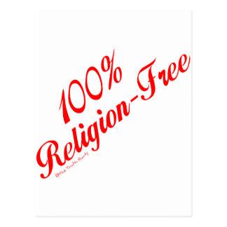 El 100% Religión-Libre Tarjeta Postal