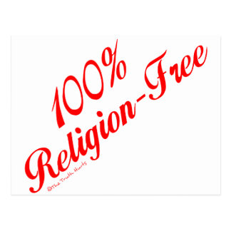 El 100% Religión-Libre Postales