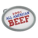 El 100% todas las hebillas de la carne de vaca de  hebilla cinturon oval