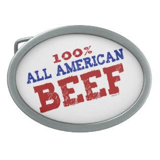 El 100% todas las hebillas de la carne de vaca de  hebilla de cinturón oval