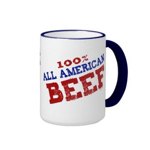 El 100% todas las tazas de la carne de vaca de