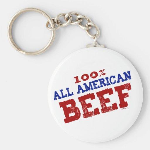 El 100% todos los llaveros de la carne de vaca de