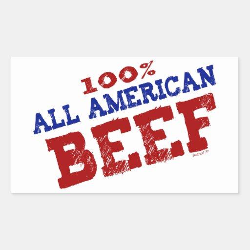 El 100% todos los pegatinas de la carne de vaca de pegatina rectangular