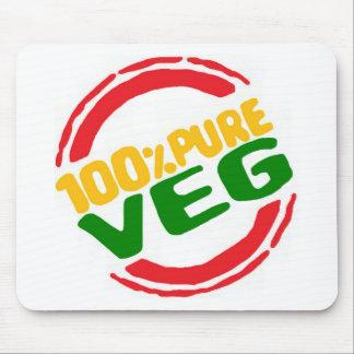 El 100% Veg puro Tapetes De Raton