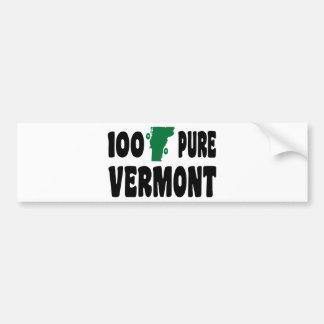 El 100% Vermont puro Etiqueta De Parachoque