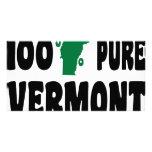 El 100% Vermont puro Tarjetas Fotográficas