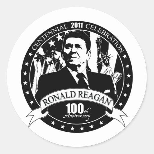 El 100o aniversario de Reagan Etiquetas Redondas