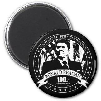 El 100o aniversario de Reagan Imán Redondo 5 Cm