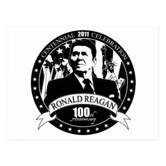 El 100o aniversario de Reagan Tarjetas Postales