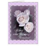 El 100o cumpleaños de la abuela florece (la edad tarjeta de felicitación