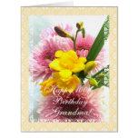 El 100o cumpleaños de la abuela florece (la edad tarjeta de felicitación grande