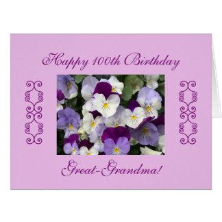 el 100o cumpleaños de las Grande-abuelas grande Tarjeta De Felicitación Grande