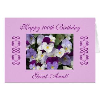 El 100o cumpleaños de las Grande-Tías Tarjeta De Felicitación