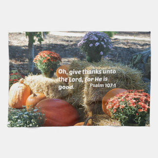 El 107:1 del salmo oh da gracias al señor… toallas de cocina