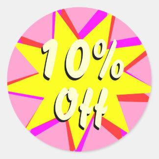 El 10% de los pegatinas de la venta al por menor pegatina redonda