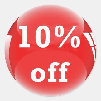 El 10% (el por ciento) del pegatina brillante