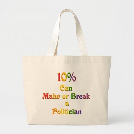 El 10% pueden hacer o romperse bolsa de mano