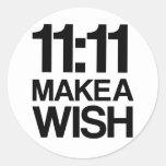 El 11:11 HACE a un pegatina del DESEO