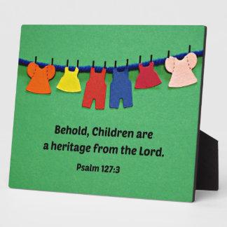 El 127:3 del salmo Behold, los niños es una herenc Placas Para Mostrar