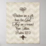 """El 127:3 """"niños de los salmos es un regalo del señ poster"""