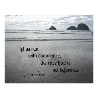 El 12:1 de los hebreos nos dejó correr con plantilla de membrete