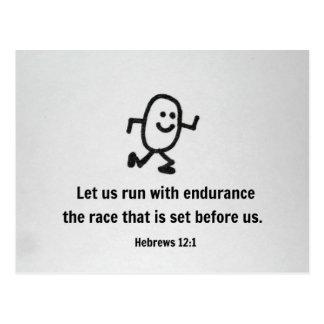 El 12:1 de los hebreos nos dejó correr con resiste tarjeta postal