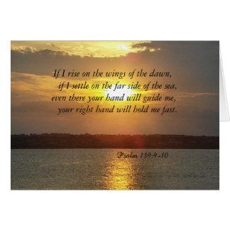 El 139:9 del salmo de la biblia - tarjeta geeting