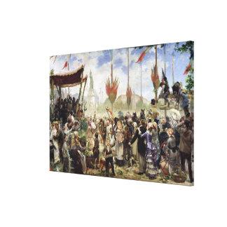 El 14 de julio de 1880 1882 impresión en lienzo estirada