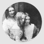 El ~ 1845 de Srtas. Binny y de Monroe Pegatina Redonda