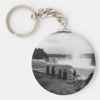 El ~ 1853 de Niagara Falls Llavero Redondo Tipo Pin