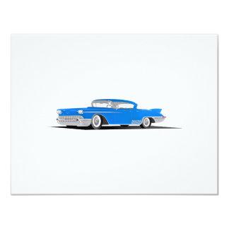 """EL 1958 de Cadillac Dorado Invitación 4.25"""" X 5.5"""""""