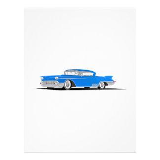 EL 1958 de Cadillac Dorado Plantilla De Membrete