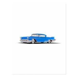 EL 1958 de Cadillac Dorado Postales
