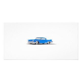EL 1958 de Cadillac Dorado Plantilla Para Tarjeta De Foto