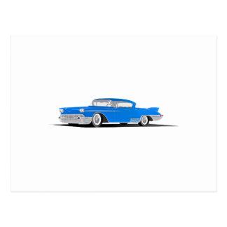 EL 1958 de Cadillac Dorado Tarjeta Postal