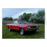 EL 1967 de Chevrolet Chevelle Camino Tarjeta De Felicitación