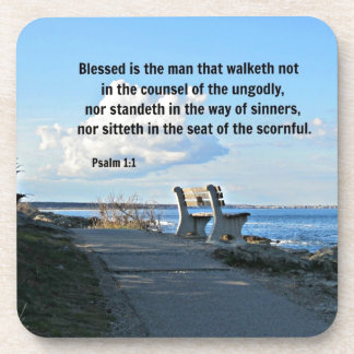 El 1:1 Blessed del salmo es el hombre ese walketh  Posavasos De Bebidas