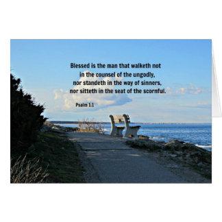 El 1:1 Blessed del salmo es el hombre ese walketh  Tarjeta De Felicitación